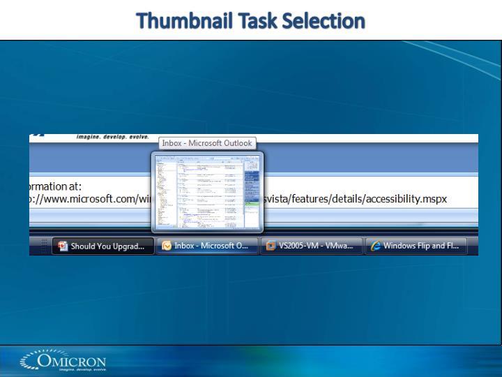 Thumbnail Task Selection