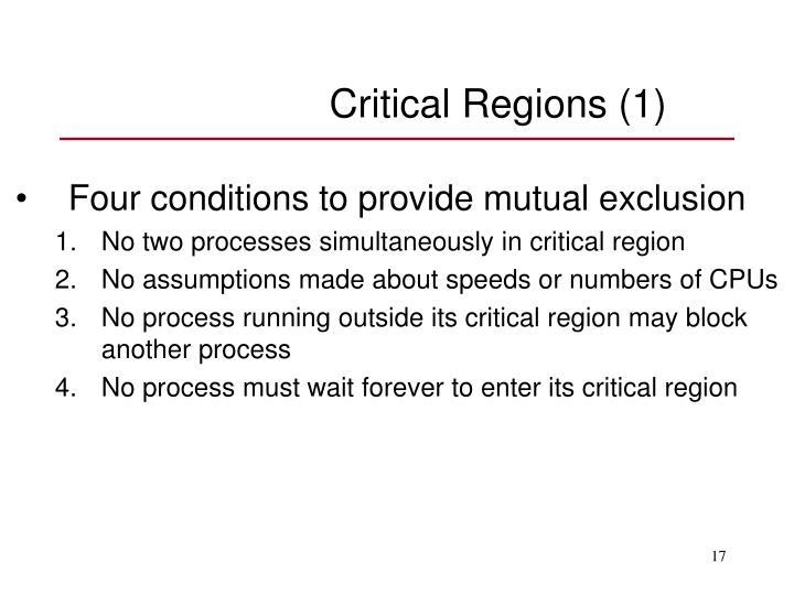 Critical Regions (1)