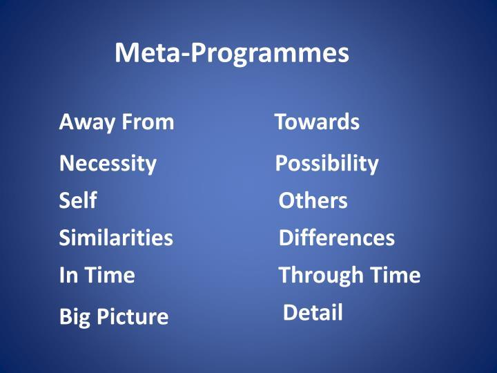 Meta-Programmes