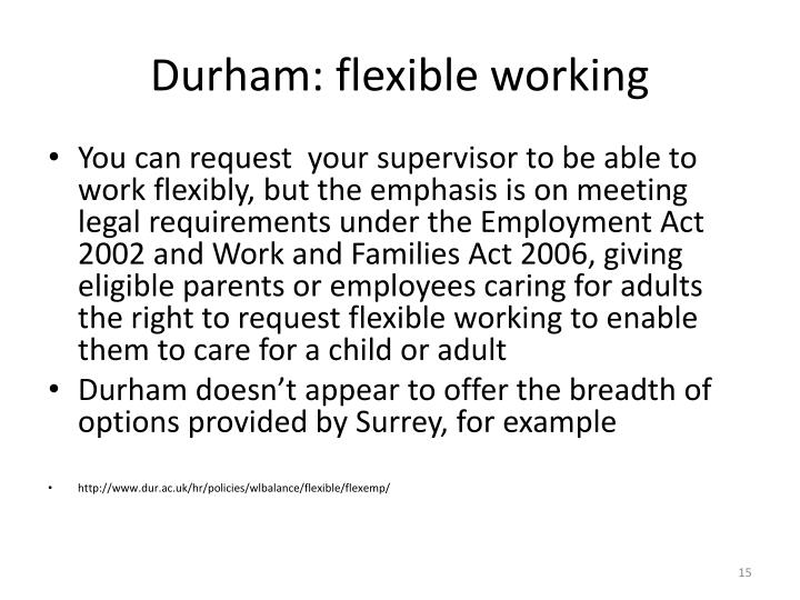 Durham: flexible working