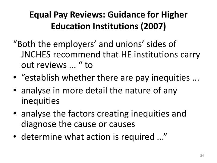 Equal Pay Reviews: Guidance for Higher Education Institutions (2007)