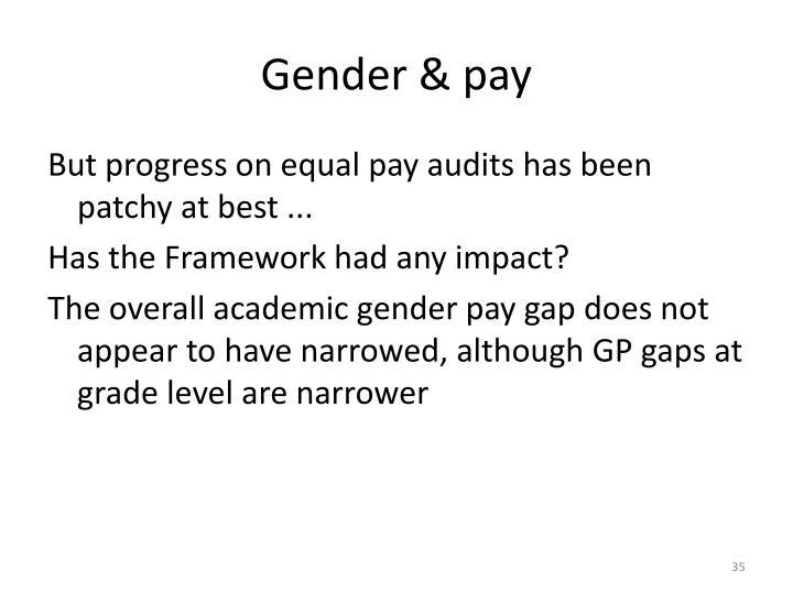 Gender & pay