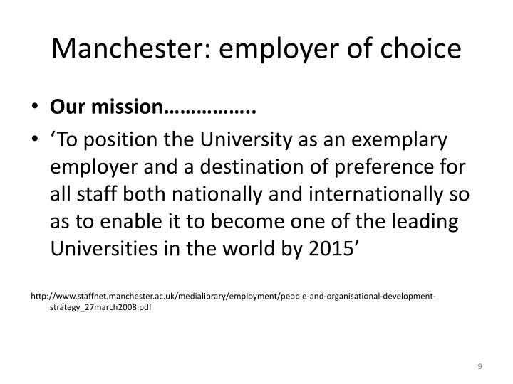 Manchester: employer of choice
