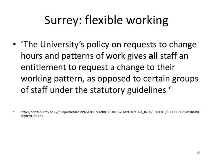 Surrey: flexible working
