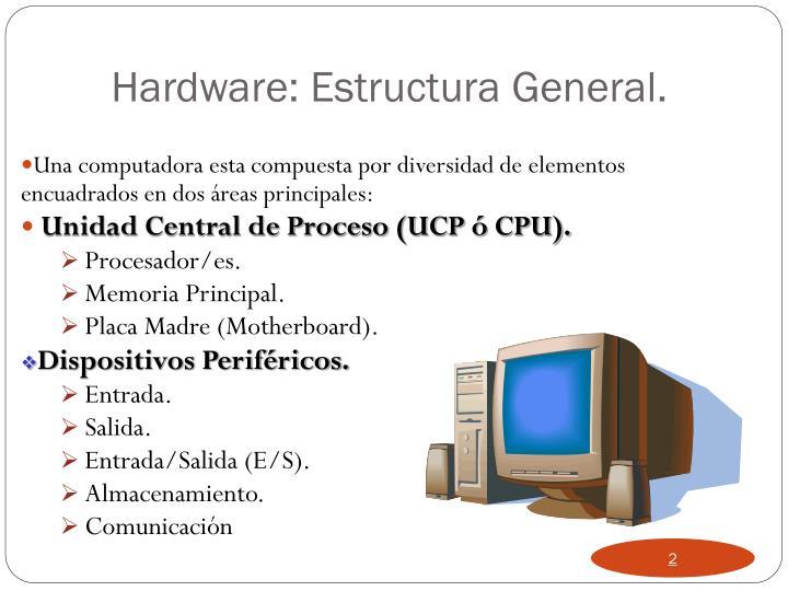 Una computadora esta compuesta por diversidad de elementos encuadrados en dos áreas principales: