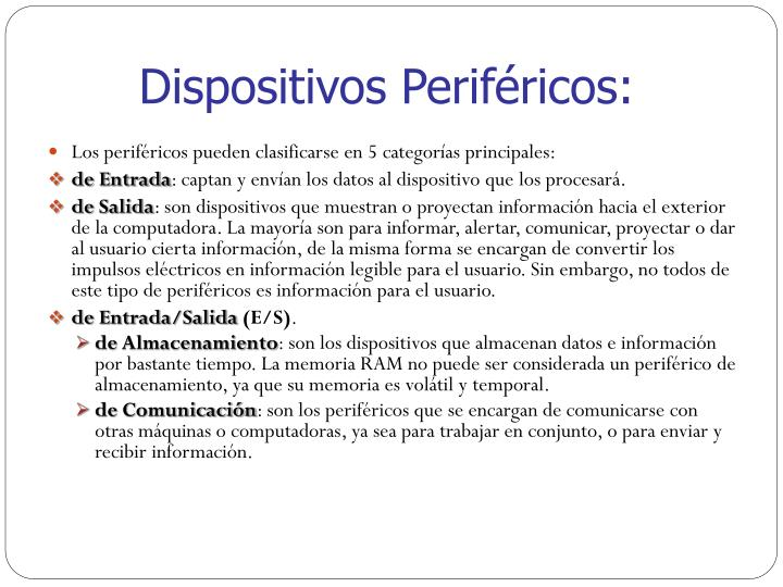 Dispositivos Periféricos: