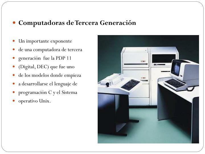 Computadoras de Tercera Generación