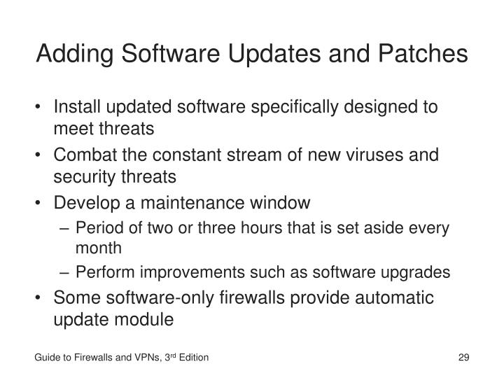 Adding Software Updates and Patches