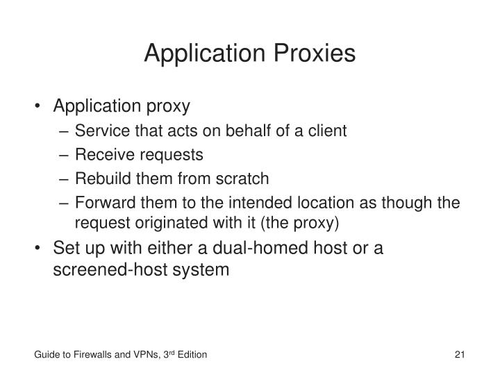 Application Proxies
