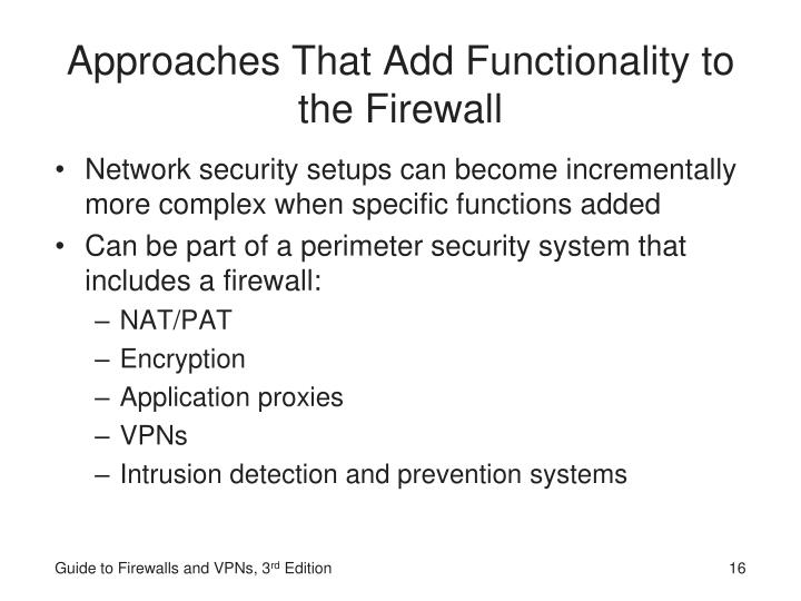 Approaches That Add Functionality to the Firewall