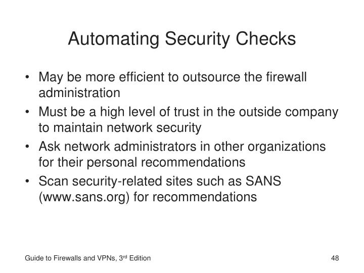 Automating Security Checks