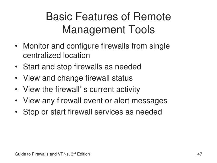 Basic Features of Remote Management Tools