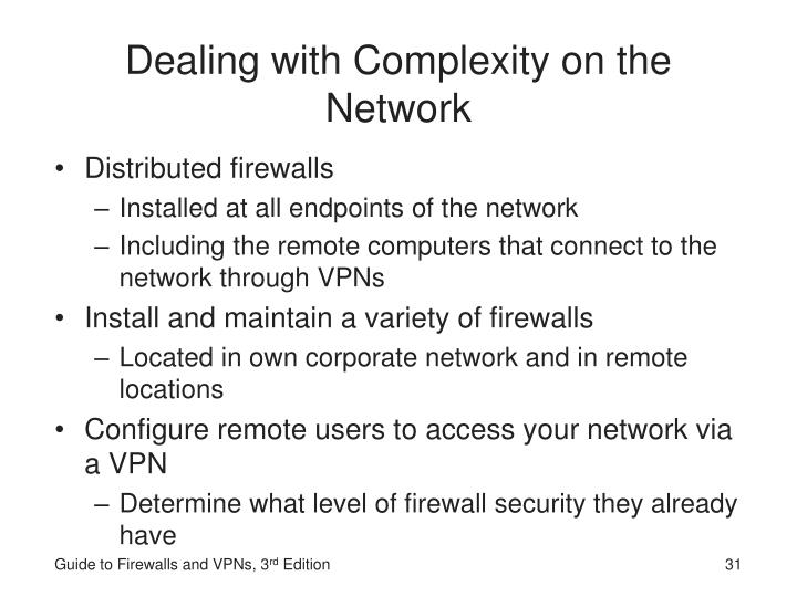 Dealing with Complexity on the Network
