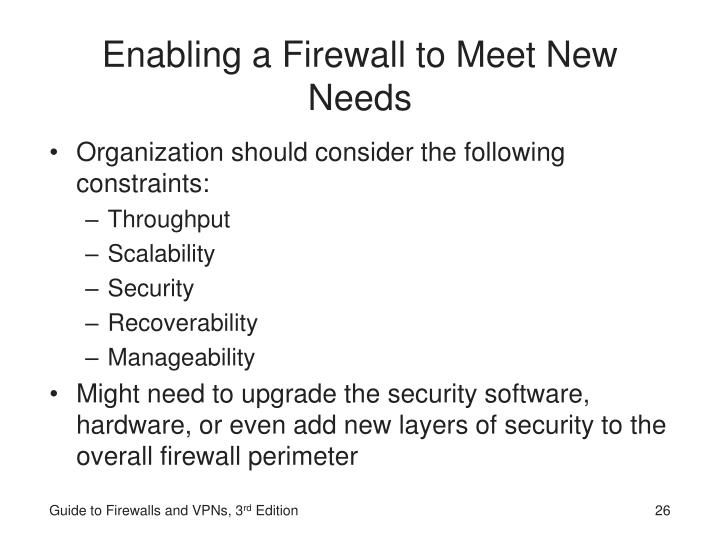 Enabling a Firewall to Meet New Needs