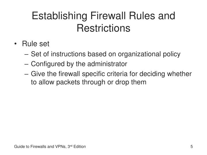 Establishing Firewall Rules and Restrictions