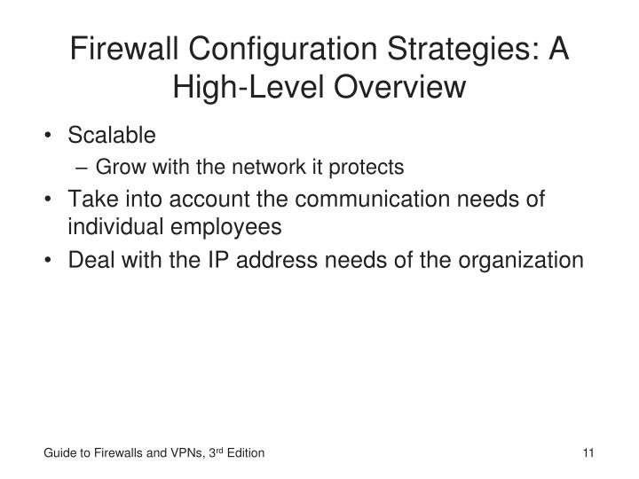 Firewall Configuration Strategies: A High-Level Overview