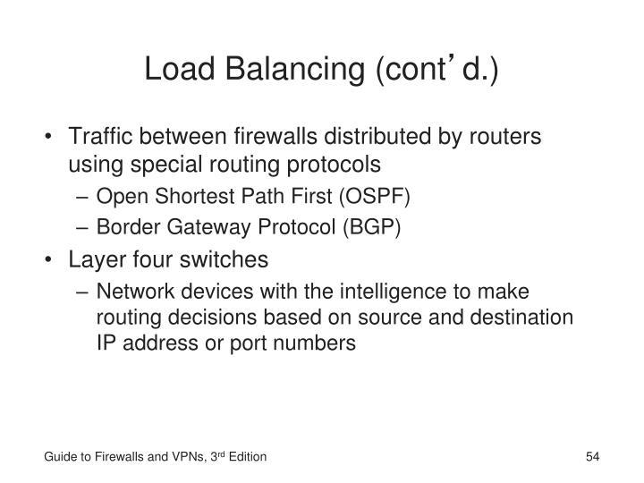 Load Balancing (cont