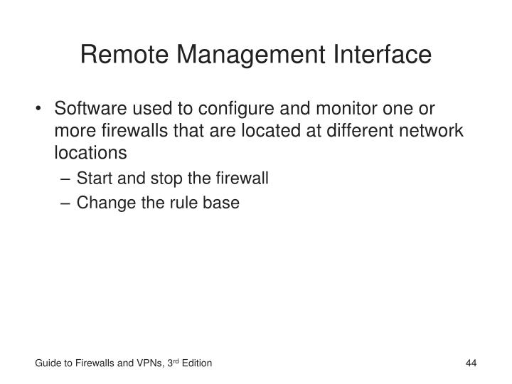 Remote Management Interface