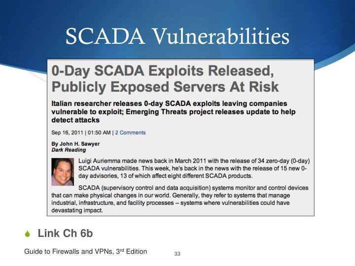 SCADA Vulnerabilities
