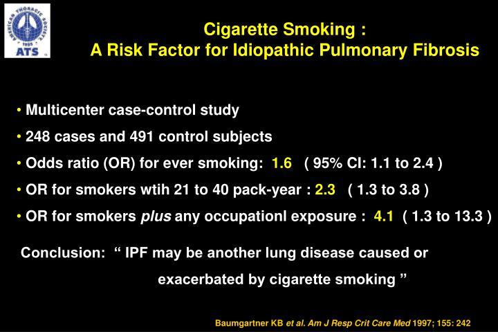 Cigarette Smoking :