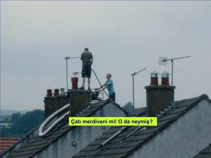 Çatı merdiveni mi! O da neymiş?