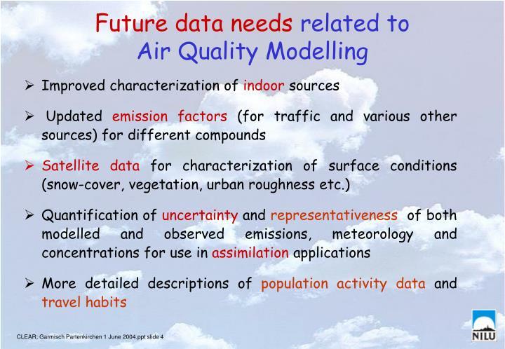 Future data needs