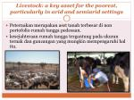 livestock a key asset for the poorest particularly in arid and semiarid settings
