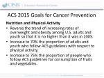 acs 2015 goals for cancer prevention
