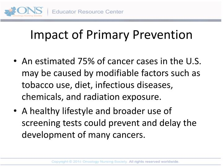 Impact of Primary Prevention