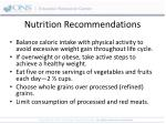 nutrition recommendations