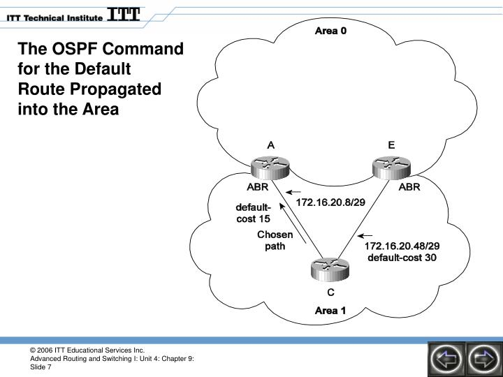 The OSPF Command