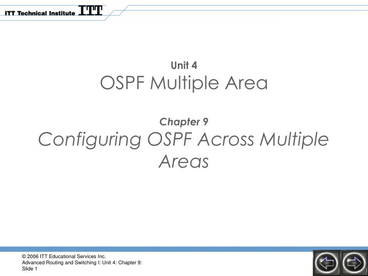 Unit 4 ospf multiple area chapter 9 configuring ospf across multiple areas