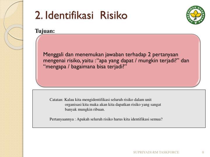 2. Identifikasi  Risiko