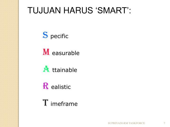 TUJUAN HARUS
