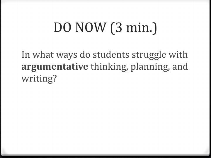 DO NOW (3 min.)