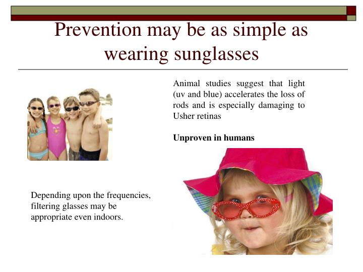Prevention may be as simple as wearing sunglasses