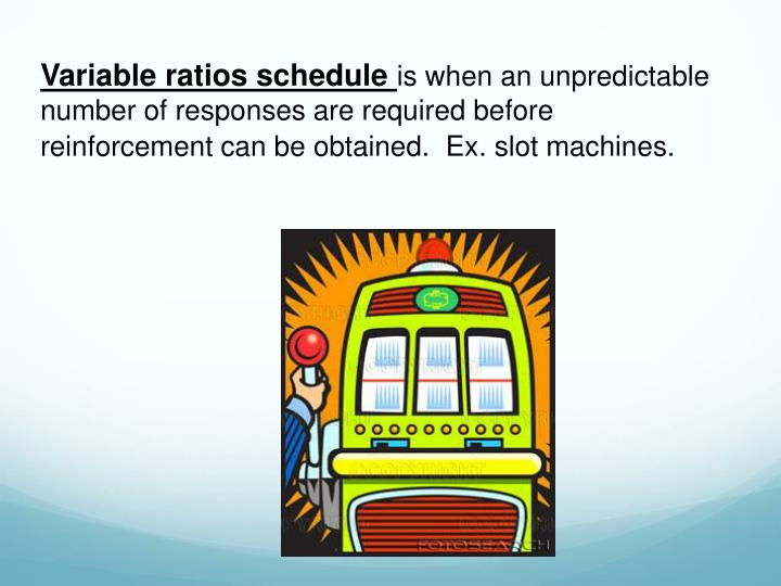 Variable ratios schedule