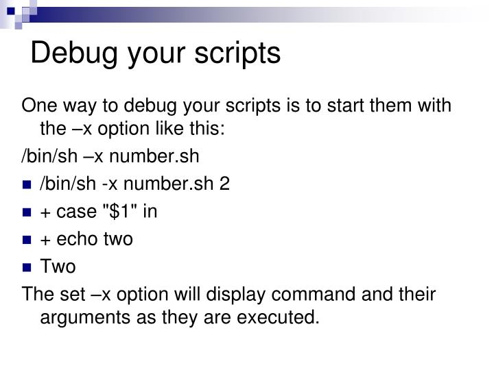 Debug your scripts