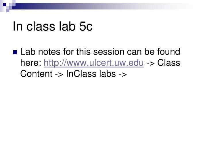 In class lab 5c