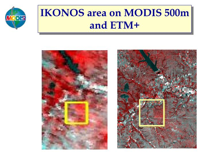 IKONOS area on MODIS 500m