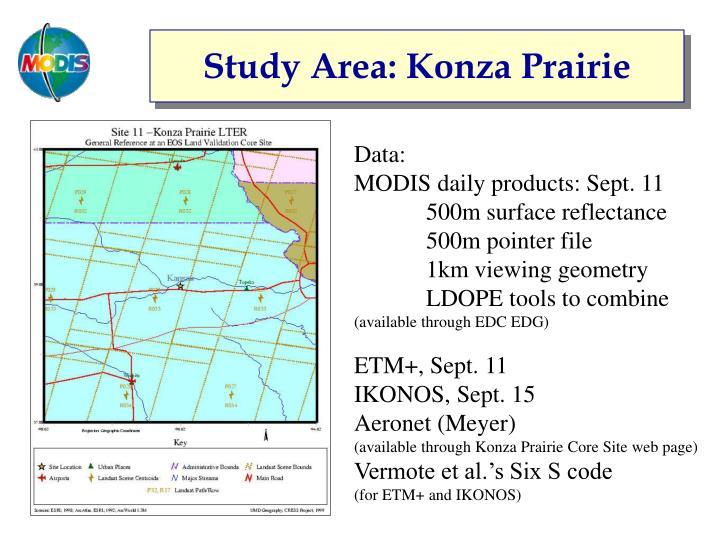 Study Area: Konza Prairie