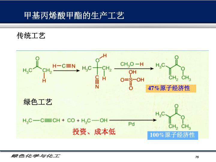 甲基丙烯酸甲酯的生产工艺