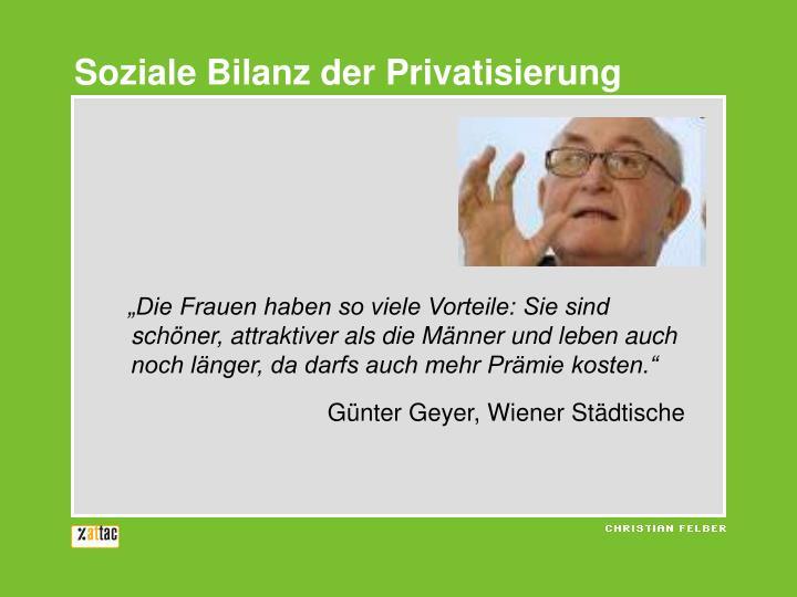 Soziale Bilanz der Privatisierung
