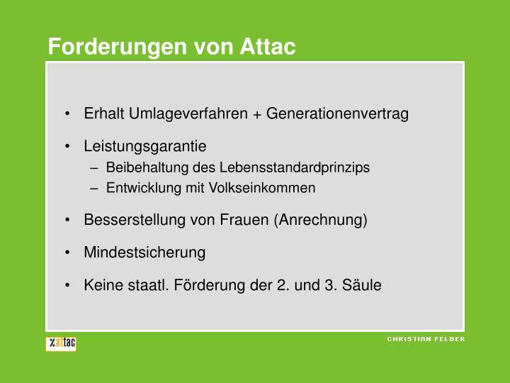 Forderungen von Attac