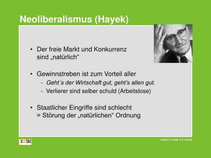 Neoliberalismus (Hayek)
