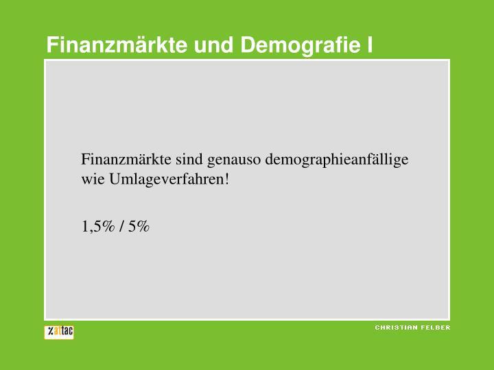 Finanzmärkte und Demografie I