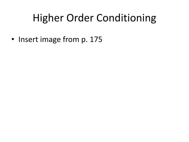 Higher Order Conditioning