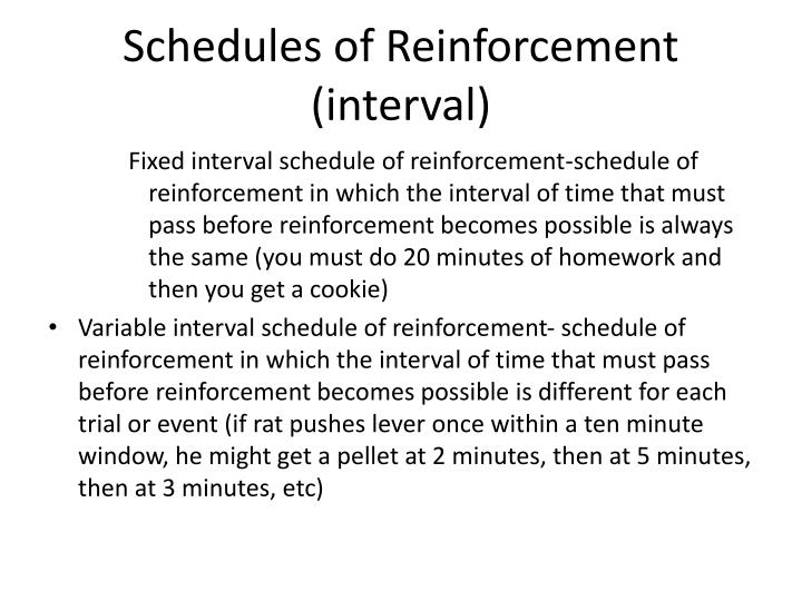 Schedules of Reinforcement (interval)