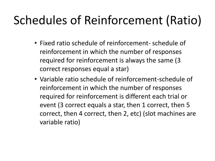 Schedules of Reinforcement (Ratio)