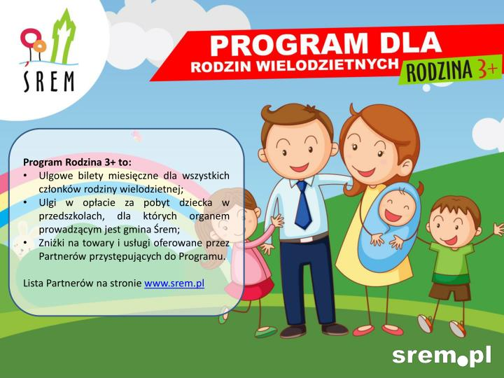 Program Rodzina 3+ to: